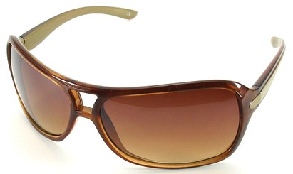 Angle of SW Aviator Style #501 in Brown Frame, Women's and Men's