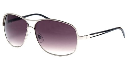Angle of SW Aviator Style #9637 in Silver Frame, Women's and Men's