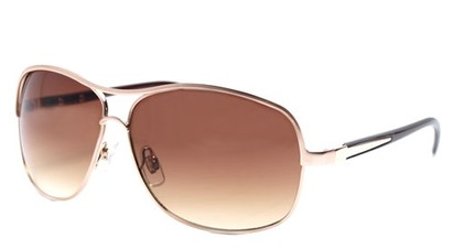Angle of SW Aviator Style #9637 in Gold Frame, Women's and Men's