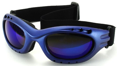 Angle of Bergen #9886 in Blue Frame, Women's and Men's Sport & Wrap-Around Sunglasses