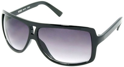 Angle of SW Oversized Aviator Style #1179 in Black Frame, Women's and Men's