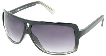 Angle of SW Oversized Aviator Style #1179 in Black Fade Frame, Women's and Men's