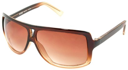 Angle of SW Oversized Aviator Style #1179 in Brown Fade Frame, Women's and Men's