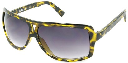 Angle of SW Oversized Aviator Style #1179 in Yellow Tortoise Frame, Women's and Men's
