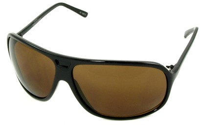 Angle of SW Oversized Aviator Style #4723 in Brown Frame, Women's and Men's