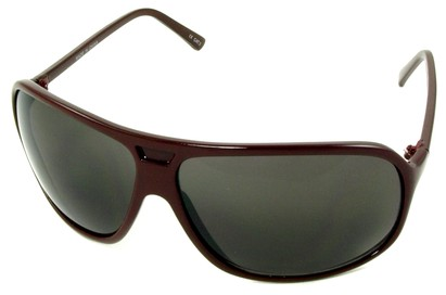 Angle of SW Oversized Aviator Style #4723 in Red Frame, Women's and Men's