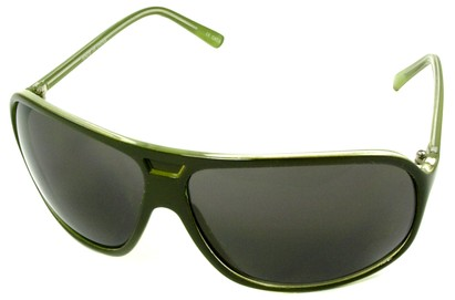 Angle of SW Oversized Aviator Style #4723 in Green Frame, Women's and Men's