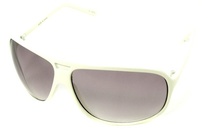 Angle of SW Oversized Aviator Style #4723 in White Frame, Women's and Men's