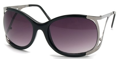 Angle of SW Oversized Style #1896 in Black and Grey Frame, Women's and Men's