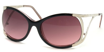 Angle of SW Oversized Style #1896 in Black and Pink Frame, Women's and Men's