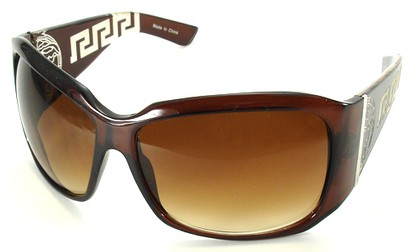 Angle of SW Oversized Style #3711 in Brown Frame, Women's and Men's