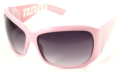 Angle of SW Oversized Style #3711 in Pink Frame, Women's and Men's
