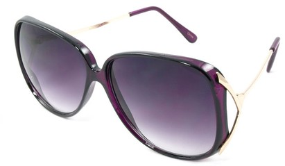 Angle of SW Oversized Style #503 in Purple Frame, Women's and Men's
