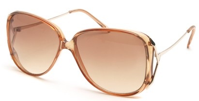 Angle of SW Oversized Style #503 in Clear Brown Frame, Women's and Men's