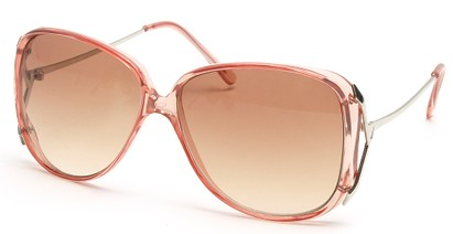 Angle of SW Oversized Style #503 in Clear Pink Frame, Women's and Men's