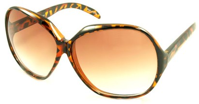 Angle of SW Oversized Style #5075 in Tortoise Frame, Women's and Men's