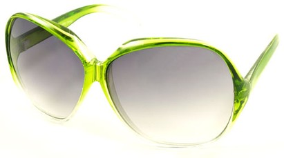 Angle of SW Oversized Style #5075 in Green Frame, Women's and Men's