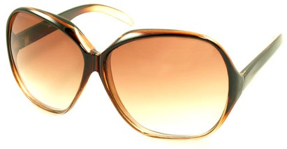 Angle of SW Oversized Style #5075 in Brown Frame, Women's and Men's