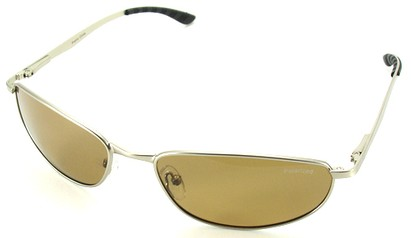 Angle of SW Polarized Style #5132 in Silver Frame with Amber Lenses, Women's and Men's