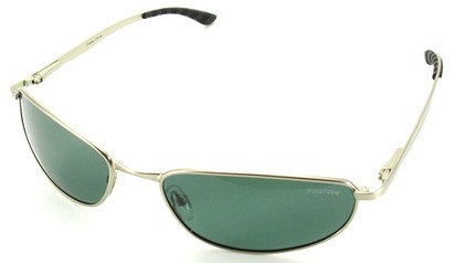 Angle of SW Polarized Style #5132 in Silver Frame with Smoke Lenses, Women's and Men's
