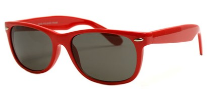 Angle of SW Retro Style #1686 in Red Frame, Women's and Men's