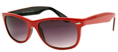 Angle of SW Retro Style #1686 in Red and Black Frame, Women's and Men's