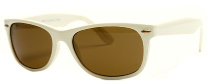Angle of SW Retro Style #1686 in Cream Frame, Women's and Men's