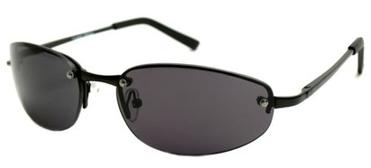 Angle of SW Super Dark Style #9420 in Black Frame, Women's and Men's