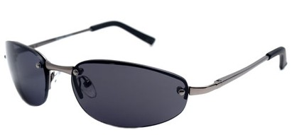 Angle of SW Super Dark Style #9420 in Matte Grey Frame, Women's and Men's