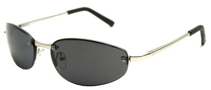 Angle of SW Super Dark Style #9420 in Silver Frame, Women's and Men's