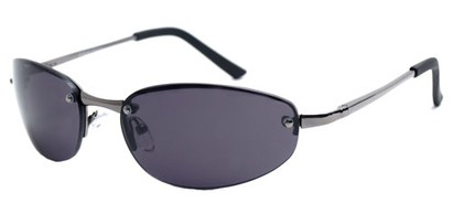 Angle of SW Super Dark Style #9420 in Glossy Grey Frame, Women's and Men's