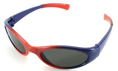 Angle of SW Kid's Sunglasses Spiderman Style in Red with Blue Frame, Women's and Men's