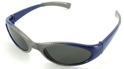 Angle of SW Kid's Sunglasses Spiderman Style in Silver with Blue Frame, Women's and Men's