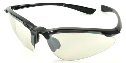 Angle of SW Sport Style #3169 TR90 Frame in Black Frame with Clear Lenses, Women's and Men's