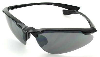 Angle of SW Sport Style #3169 TR90 Frame in Black Frame with Smoke Lenses, Women's and Men's