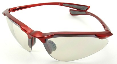 Angle of SW Sport Style #3169 TR90 Frame in Red Frame with Clear Lenses, Women's and Men's