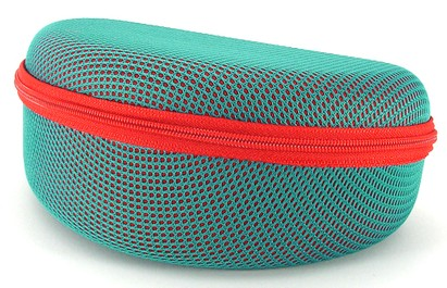 Angle of Mesh Dome Teal and Red Case #647 in Teal and Red Case, Women's and Men's