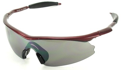 Angle of SW Kid's Style #9101 in Red Frame, Women's and Men's