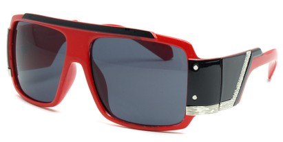 Angle of SW Bling Style #8834 in Bright Red and Black Frame, Women's and Men's