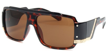 Angle of SW Bling Style #8834 in Tortoise Frame, Women's and Men's