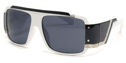 Angle of SW Bling Style #8834 in White and Black Frame, Women's and Men's