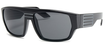 Angle of SW Retro Style #8724 in Black and White Frame, Women's and Men's