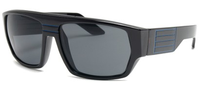 Angle of SW Retro Style #8724 in Black and Blue Frame, Women's and Men's