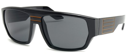 Angle of SW Retro Style #8724 in Black and Orange Frame, Women's and Men's