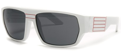 Angle of SW Retro Style #8724 in White Frame, Women's and Men's