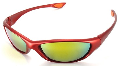 Angle of SW Sport Style #3163 in Red Frame, Women's and Men's
