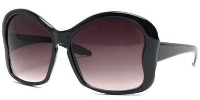 Angle of SW Butterfly Sunglasses #8833 in Black Frame, Women's and Men's