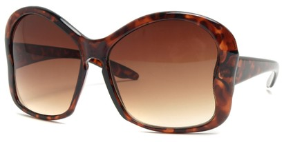 Angle of SW Butterfly Sunglasses #8833 in Tortoise Frame, Women's and Men's