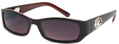 Angle of SW Fashion Style #3484 in Black and Red Frame, Women's and Men's