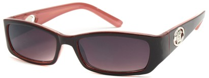 Angle of SW Fashion Style #3484 in Red and Pink Frame, Women's and Men's